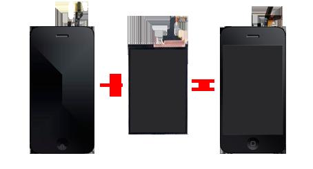 Полная замена стекла и также дисплея для iphone 3g