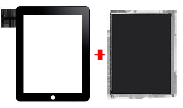 Поменять и стекло и дисплей для ipad