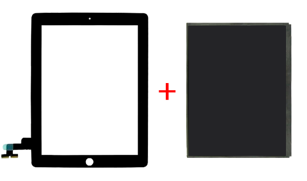Полная замена стекла и дисплея ipad 2