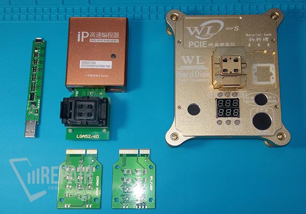 Замена флеш памяти iphone 7